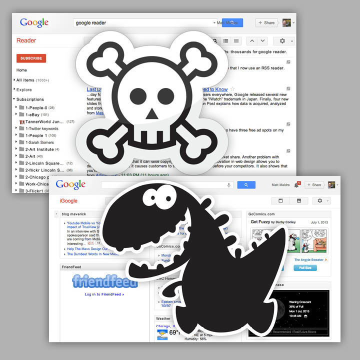 Google Reader is dead, iGoogle the dinosaur remains alive