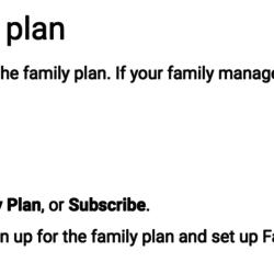 Upgrade to Google Play family plan