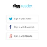 Digg Reader log-in