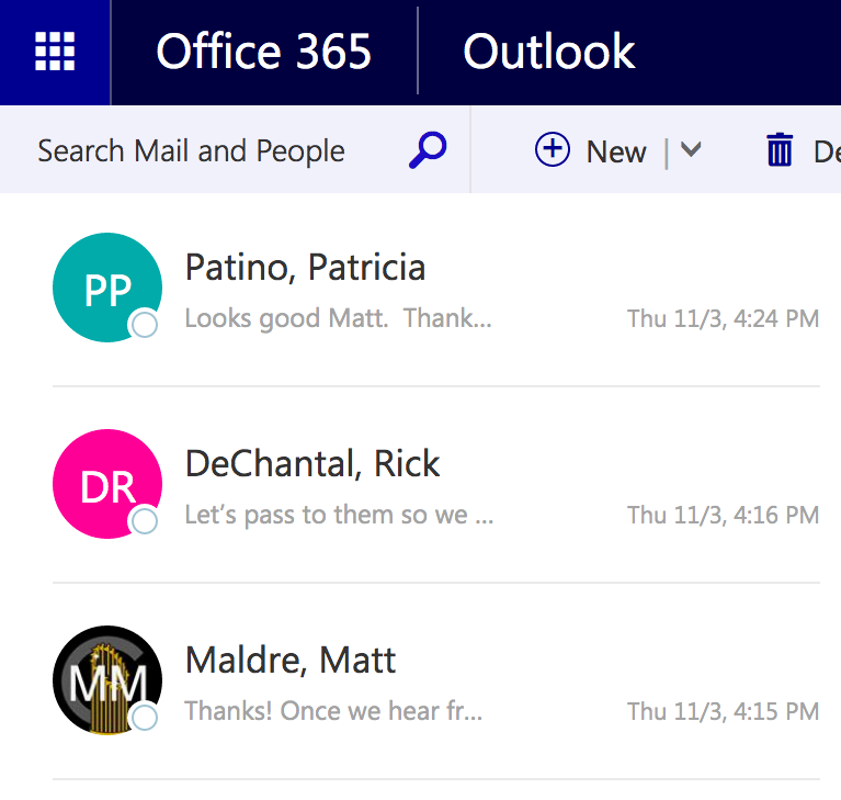 office 365 default icons