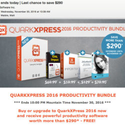 QuarkXpress 2016 Productivity Bundle