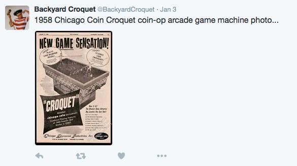 1958 Chicago Coin Croquet coin-op arcade game machine photo
