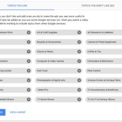Google Ads: topics you like