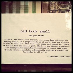 Old Book Smell. LIgnin. Perfume the Guide