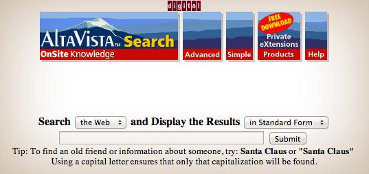 AltaVista in 1997