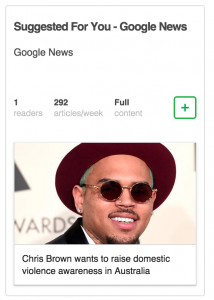 Google News: Suggested for you, only 42 articles a day