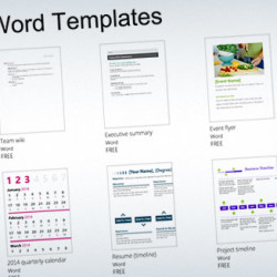 Featured Word Templates