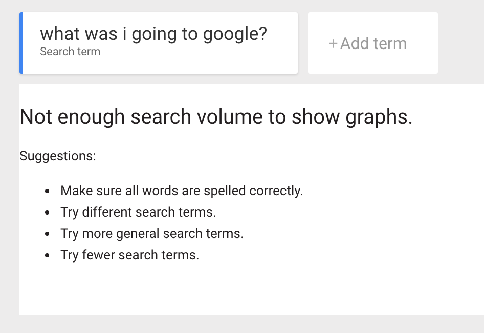 What was I going to google?