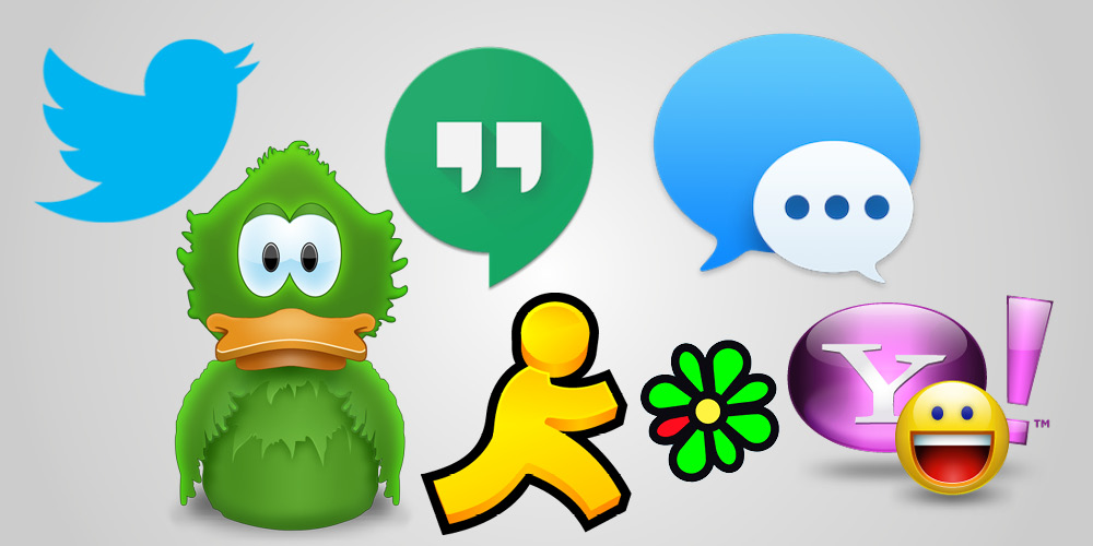 Desktop messengers, Adium, Google Hangouts, AIM, iMessage, Yahoo Messenger