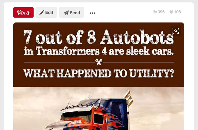 7 out of 8 Autobots in Transformers 4 are sleek cars