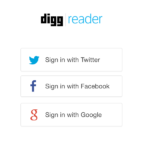 Digg Reader log-in
