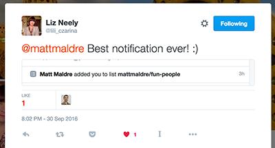lili_czarina's reaction to Twitter fun people list