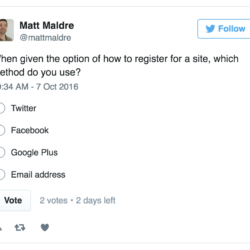 When given the option of how to register for a site, which method do you use?
