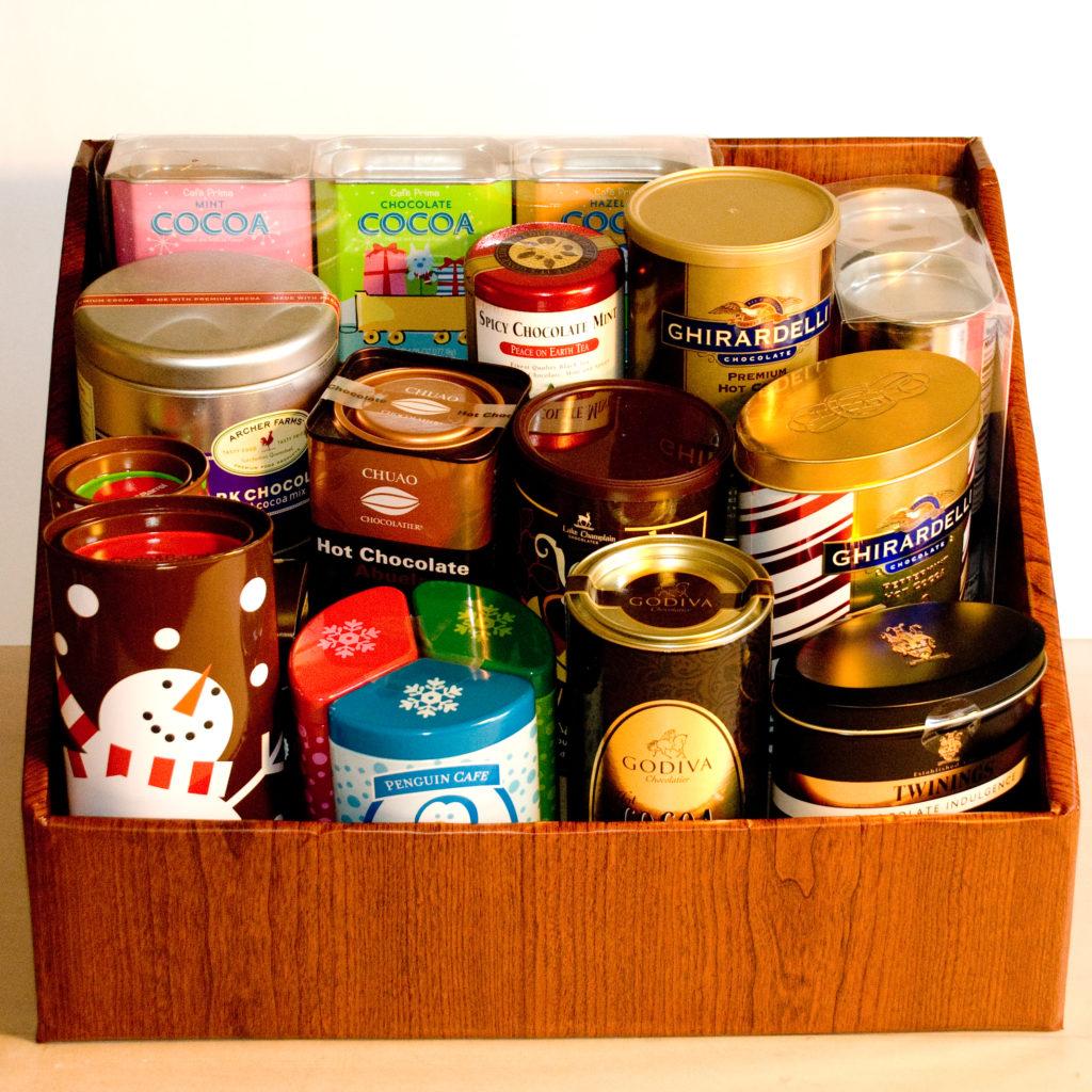 A ton of hot chocolate in a custom box