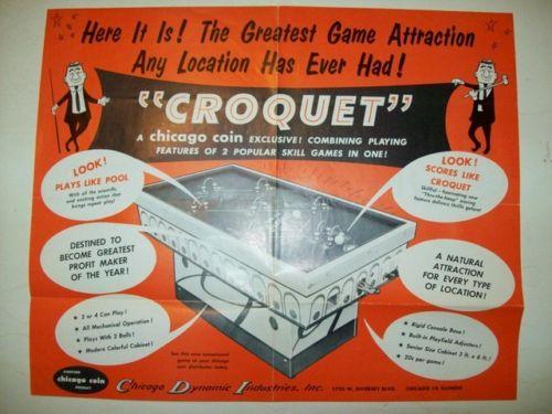 chicago coin croquet ad flyer