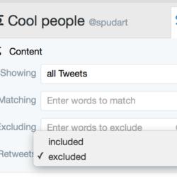 Tweetdeck: exclude retweets