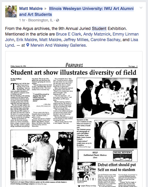 Argus January 26 1996 Student art show illustrates diversity of field