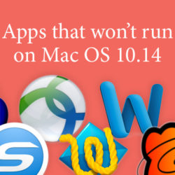 apps that won't run on Mac OS 10.14