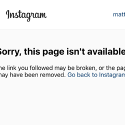 instagram-Sorry, this page isn't available