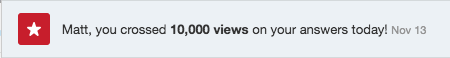 10,000 views on Quora
