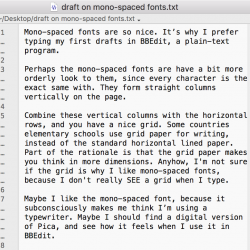 draft-on-mono-spaced-fonts