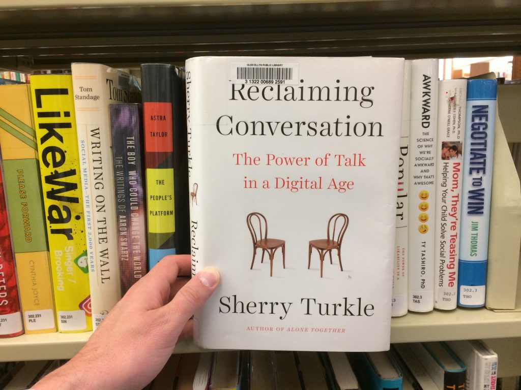 Reclaiming Conversation book pulled from