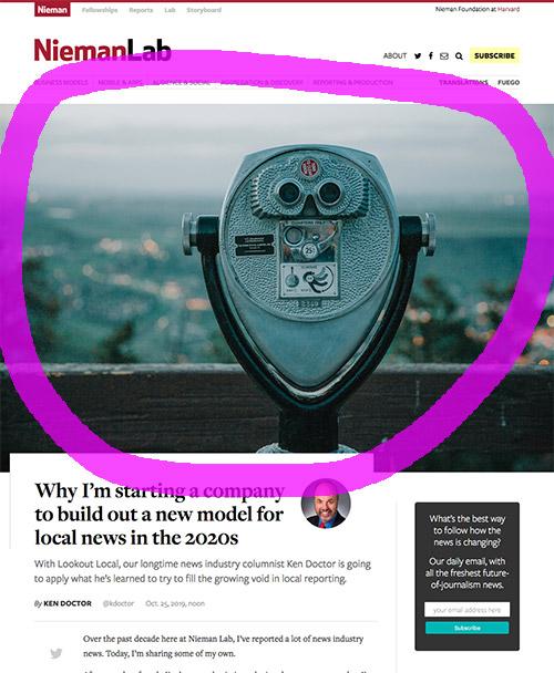 Screenshot of article using Flickr image