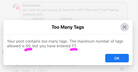 Your post contains too many tags. The maximum number of tags allowed is 50, but you entered 77.