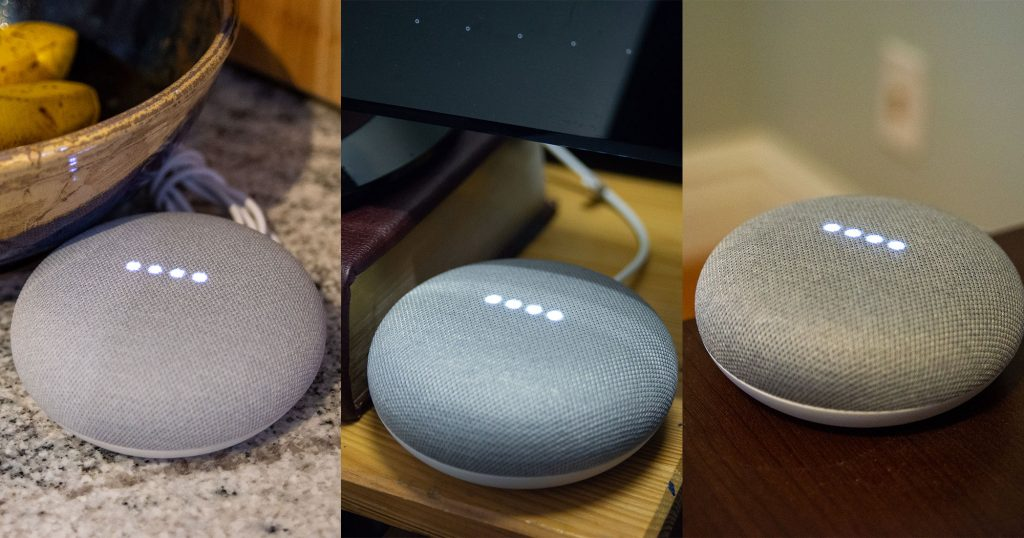 Google Home speakers
